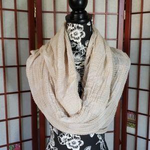 Zara distress scarf shawl wrap beige
